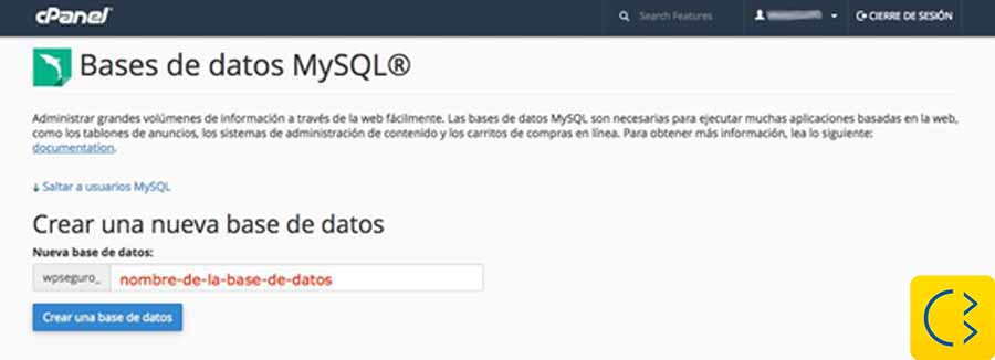 Smile Comunicación-Aprende WordPress-Crear una base de datos nueva